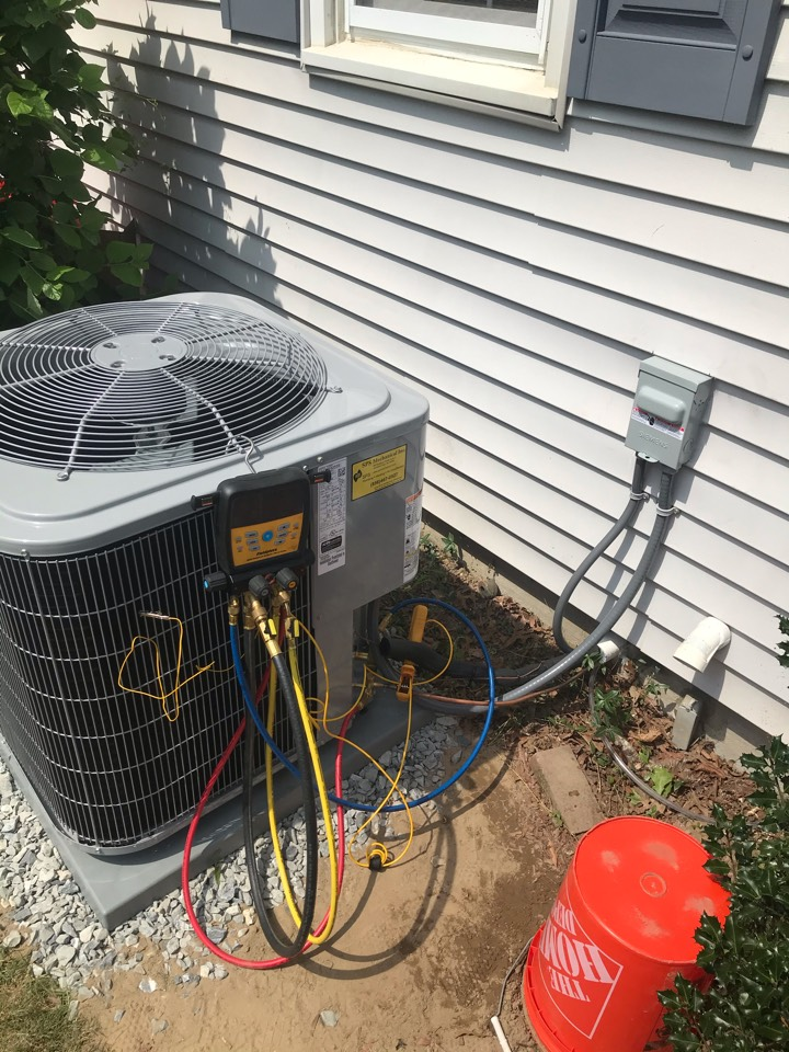 Dividing Creek, NJ - Replaced Furnace and air conditioning system