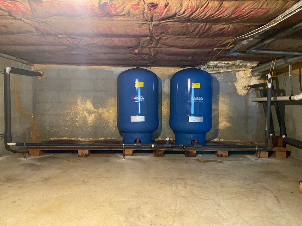 Swedesboro, NJ - Replaced 80 gallon well tanks for Geothermal system