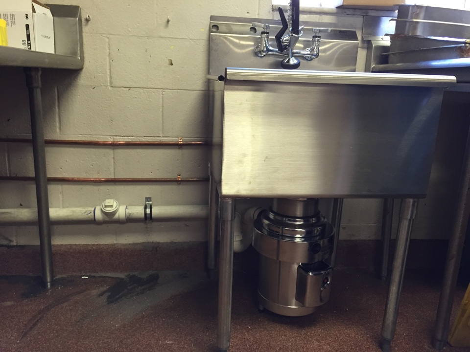 Pitman, NJ - Installation of commercial sink and food waste disposal for retirement home