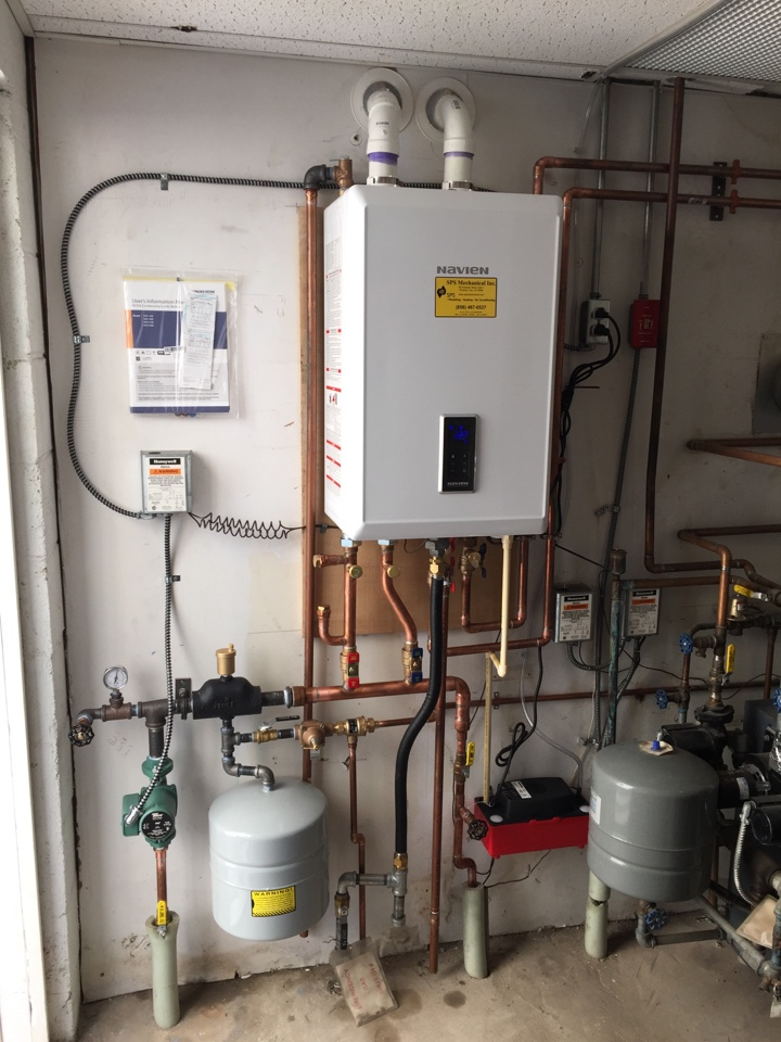 Wenonah, NJ - Installation of tankless Navien combi system. Baseboard and  DHW