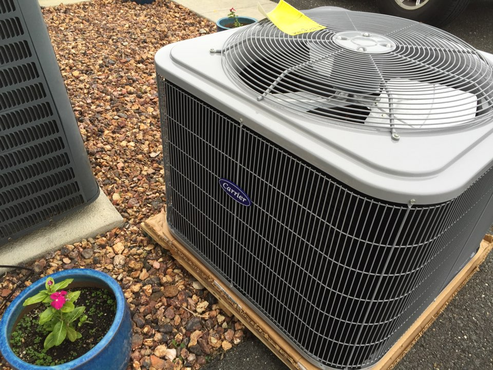 Franklin, NJ - Replacing 12 year old AC unit with a new 16 seer Carrier unit