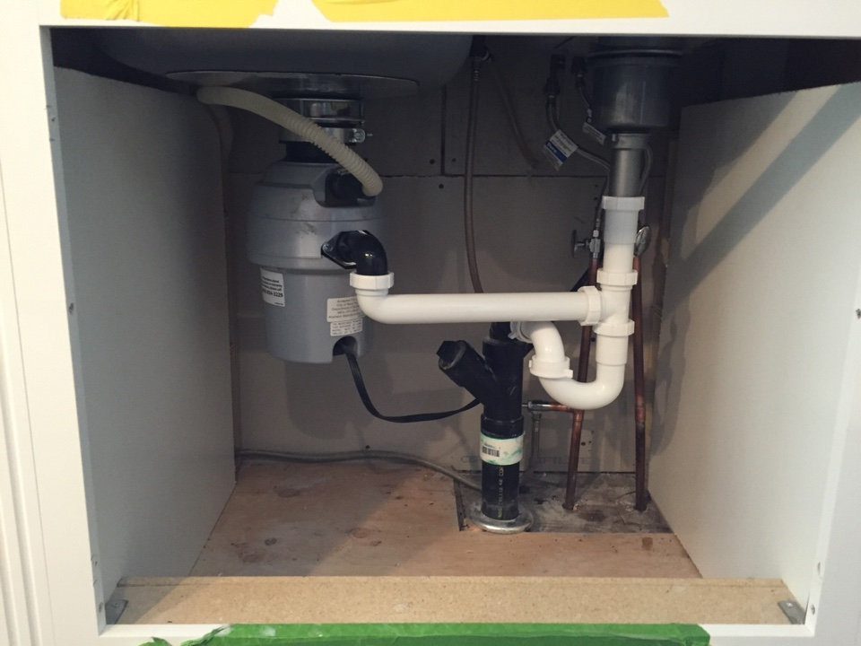 Woodbury, NJ - Install of owner supplied kitchen faucet, drains and garbage disposal