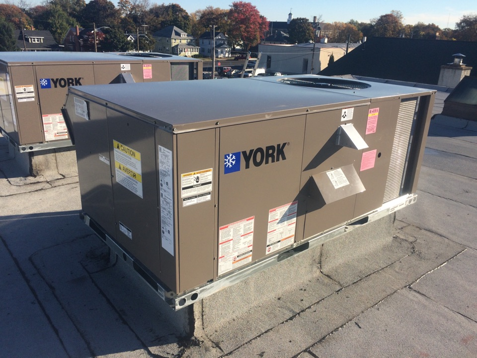 Glassboro, NJ - Installed two York packaged units on roof.