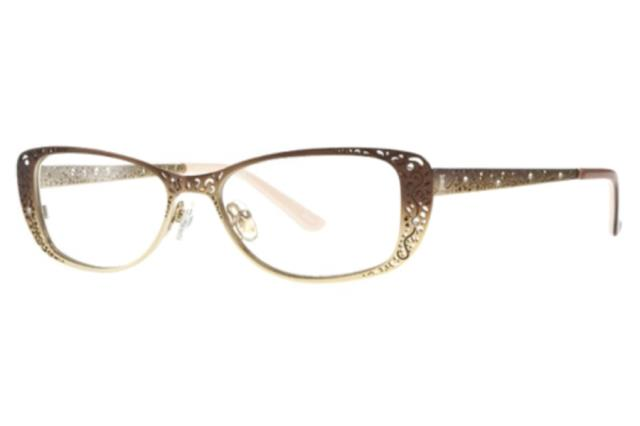 Century, FL - New Patient came to us from a referral from a friend. She needed a comprehensive eye exam and a new pair of eyeglasses. She found the cutest brown and gold helium frame with rhinestones and her VSP vision insurance helped tremendously! They looked amazing on her!