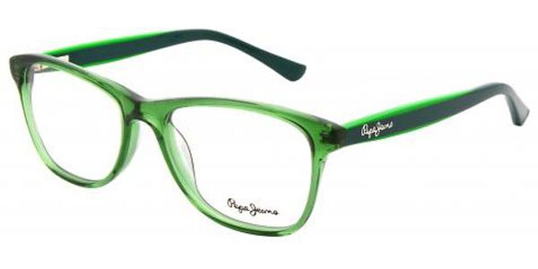 Pensacola, FL - New patient walked in for a comprehensive eye exam with one of our eye doctors. She received a new prescription and we helped her find a beautiful forest green designer Pepe Jeans frame with thin light weight, anti reflective lenses.