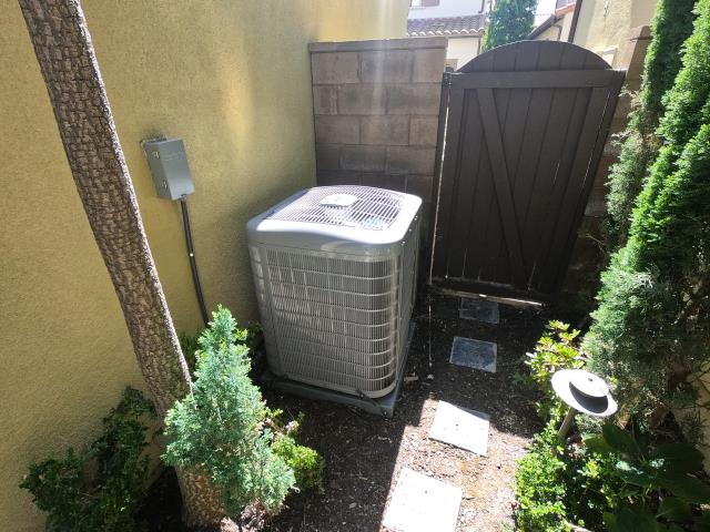 Irvine, CA - Installed a new Carrier 3 ton variable speed condenser 19+SEER, Carrier modulating variable speed 98% furnace, high efficiency coil, Carrier Infinity control thermostat, all new flex ducts, added 4 return grills upstairs, permits, and HERS testing.  This is a great system.  And the upstairs of this house is now cool all the time without having to run the ac all day to keep up.