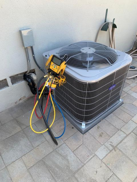 Fullerton, CA - Installed new Carrier furnace, condenser and coil.  Also added return air duct and grill to hallway.