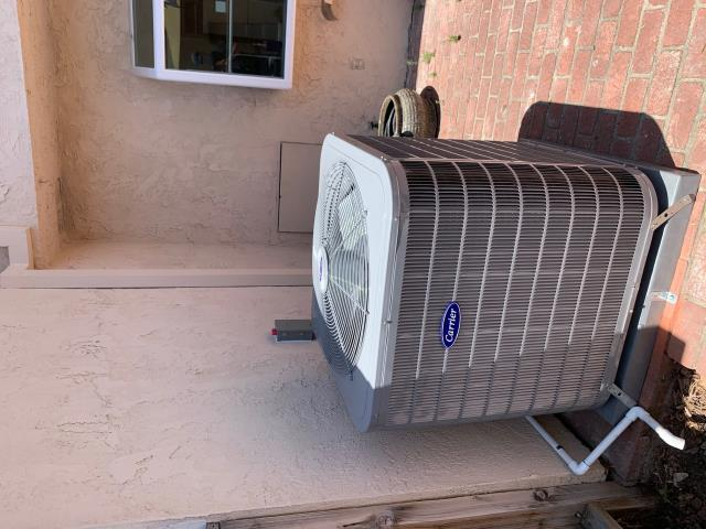 Placentia, CA - All new Carrier Heat pump condenser 16+SEER two speed, Carrier variable speed fan coil, NEST thermostat, all new flex ducts, all new deluxe supply and return grills, city permits, and HERS Testing.