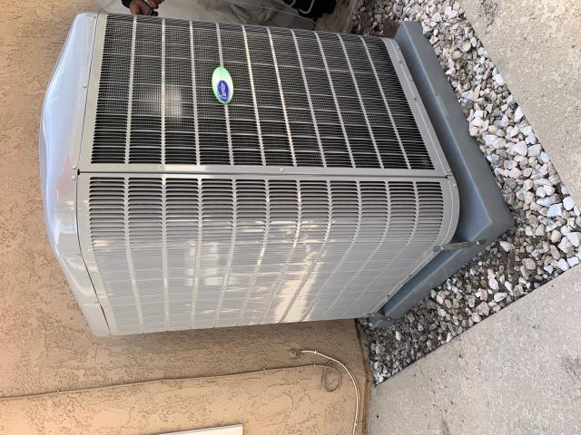 Anaheim, CA - New Carrier Infinity 5 ton variable speed  22.5+SEER condenser (24VNA6), Carrier  Infninity 100,000 BTU variable speed furnace (58CUOA), ADP high efficiency coil, Carrier Infinity control thermostat, iWave air purifier, all new ducts, and all new grills.  Condenser is only 67 db's on high speed.  Very quiet, super effecient, and extremly high tech.