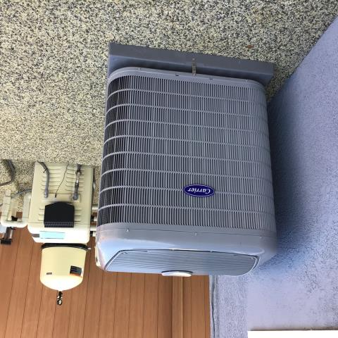 Placentia, CA - compressor out, ac not working, new Carrier air conditioner, New compressor