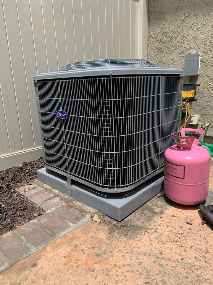 Yorba Linda, CA - Install new air conditioning, repair AC, no cooling, new ac coil, new thermostat