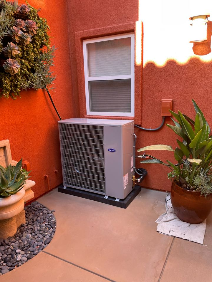 Huntington Beach, CA - Replace ac, replace furnace, Carrier slim line condenser, new ac coil