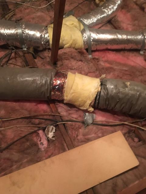 Anaheim, CA - Repaired Duct line
