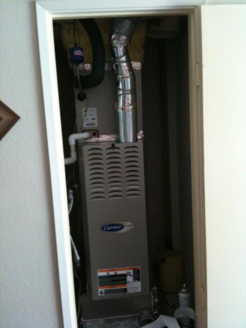 Orange, CA - Did service maintenance on a Carrier furnace