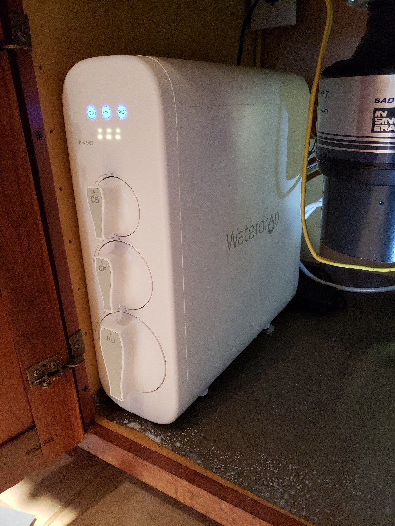 Johnson City, TN - Customer requested installation of Waterdrop brand tap water filtration system.