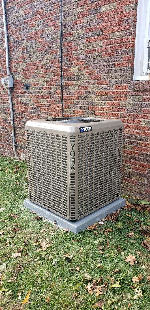 Condenser and air handler finished today in Linden