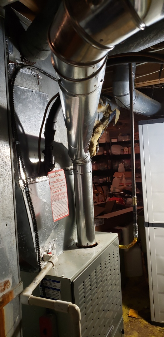 East Brunswick, NJ - Chimney liner , inducer motor replacement and ventilation pipe installed in east brunswick