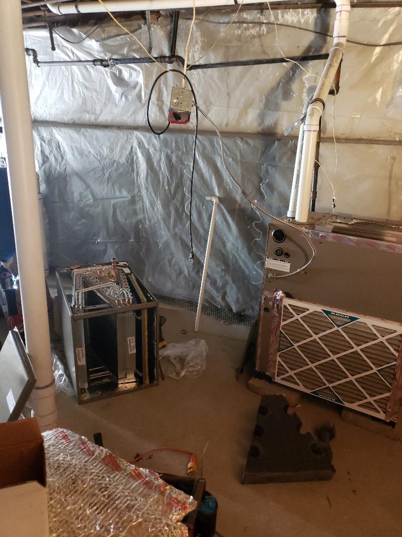 Cranford, NJ - Coil installation today in Cranford, NJ