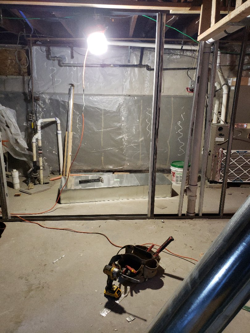 Cranford, NJ - Duct work and supply/ return installation today in cranford