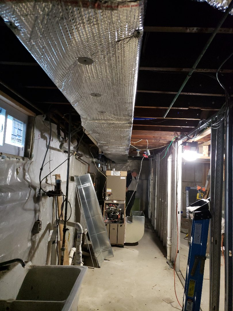 Cranford, NJ - Duct work installed today in cranford