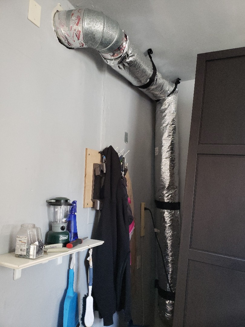 Cranford, NJ - Continuing duct and flex installation today in Cranford NJ