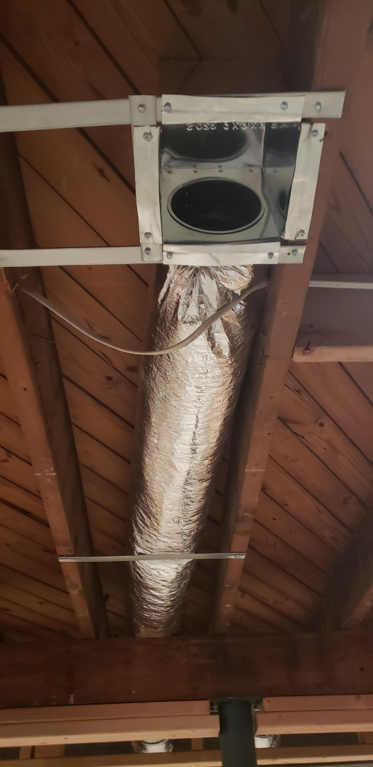 Fanwood, NJ - Installed new supply and return as well as flappers for bathroom vents in fanwood