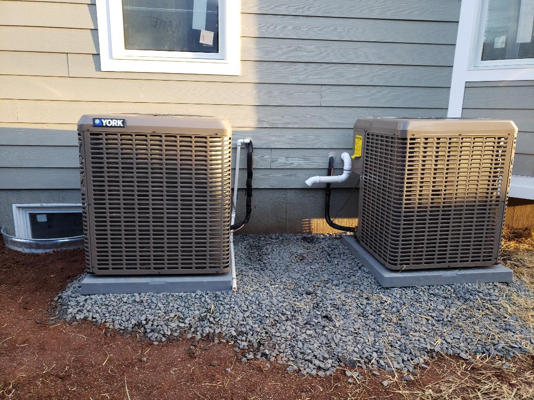 Clark, NJ - Condensers installed today and systems charged