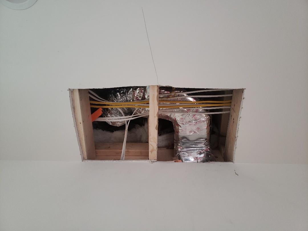 Bernardsville, NJ - Continuing installation of the new system  in Bernardsville NJ  today