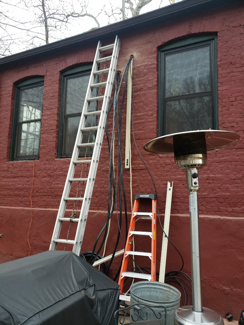 Cranford, NJ - Installing line sets and condensing units today in cranford