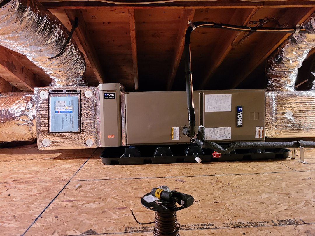 Fanwood, NJ - Line set complete as well as attic system in fanwood