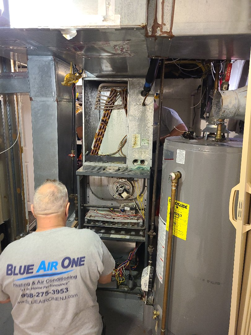 Woodbridge Township, NJ - Furnace coil condenser replacement in Avenel