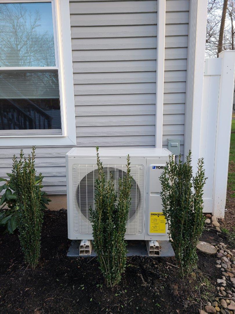 Clark, NJ - Replacement York mini split condenser