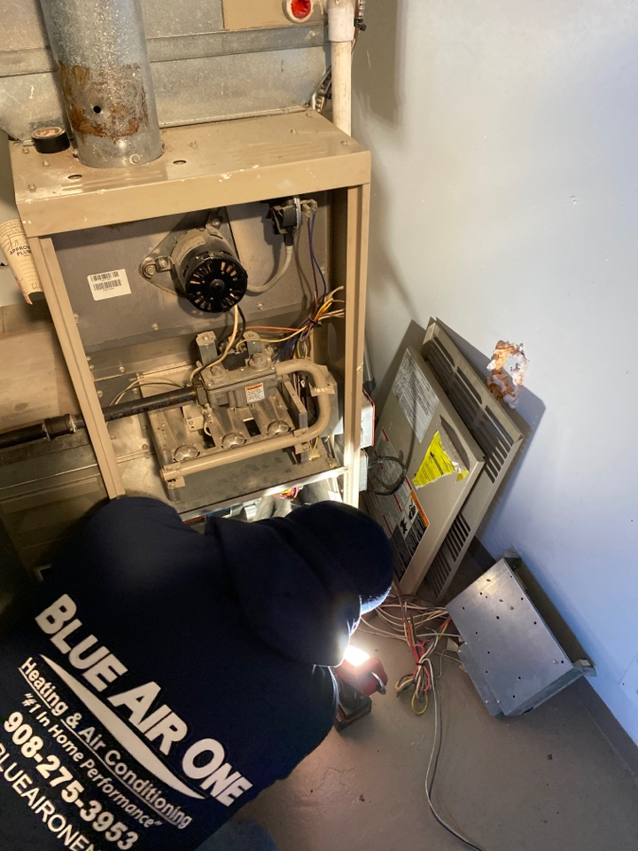 Emergency replacement of OEM blower motor for the furnace in Fanwood Nj