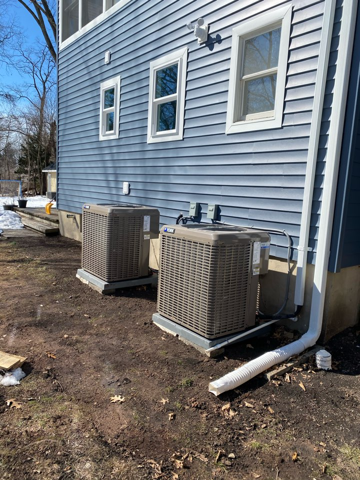 Just installed two ac systems in Fanwood Ann