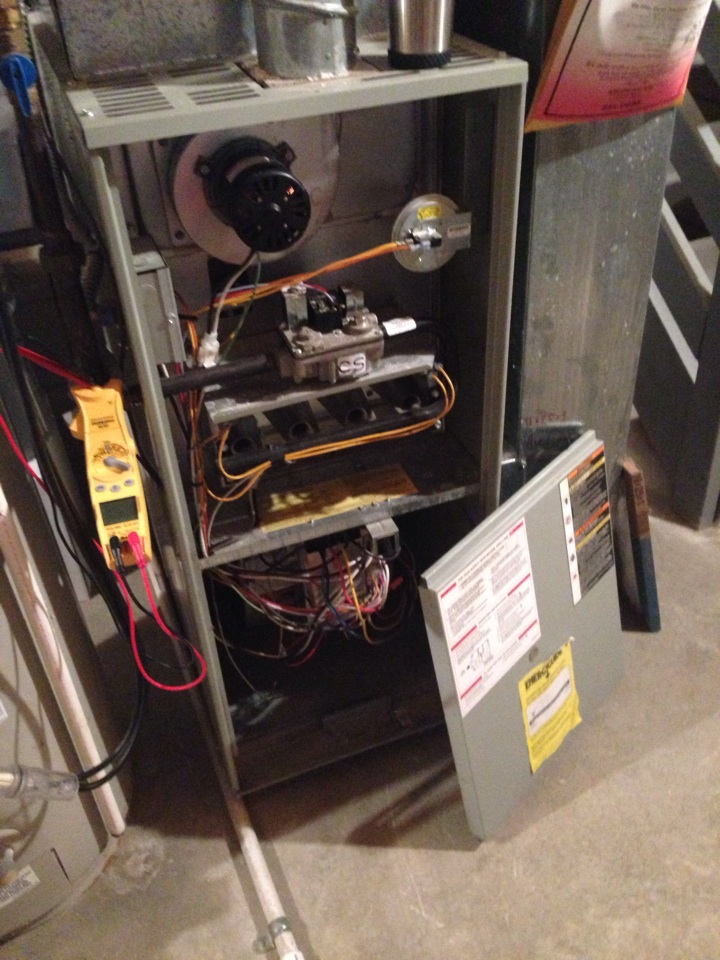 Hilliard, OH - Tune up on a Trane furnace from 1998