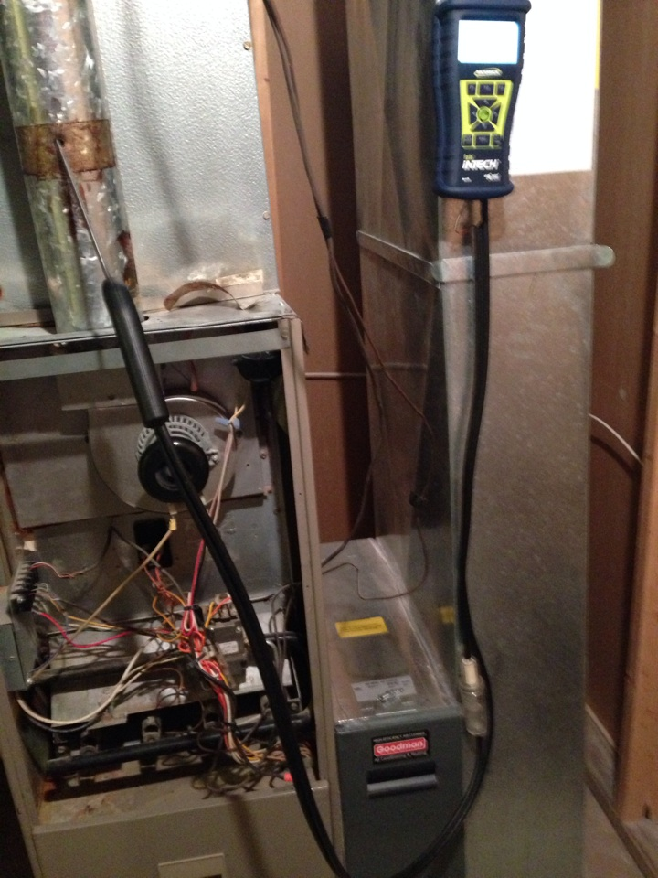Galena, OH - Fall tune up service on an older goodman furnace