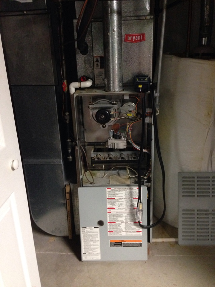 Blacklick, OH - Completing a tune up on a 1999 Bryant furnace