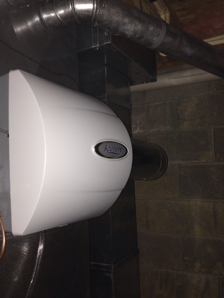 Powell, OH - Installing a aprilaire 600M humidifier