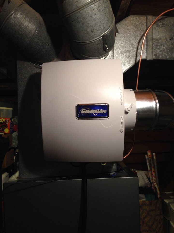 Powell, OH - Installing a whole home humidifier in the Powell area