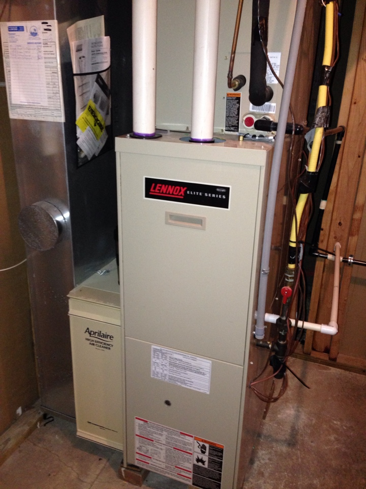 Bexley, OH - Capacitor replacement on one of three Lennox furnaces