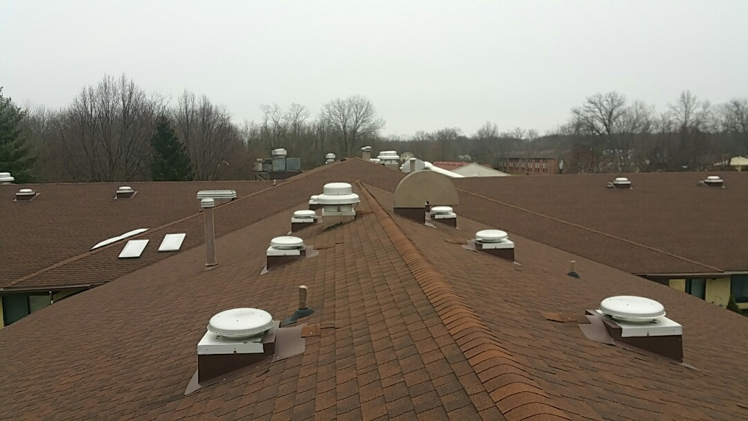 Blanchester, OH - Commercial roof inspection for replacement due to hail damage.