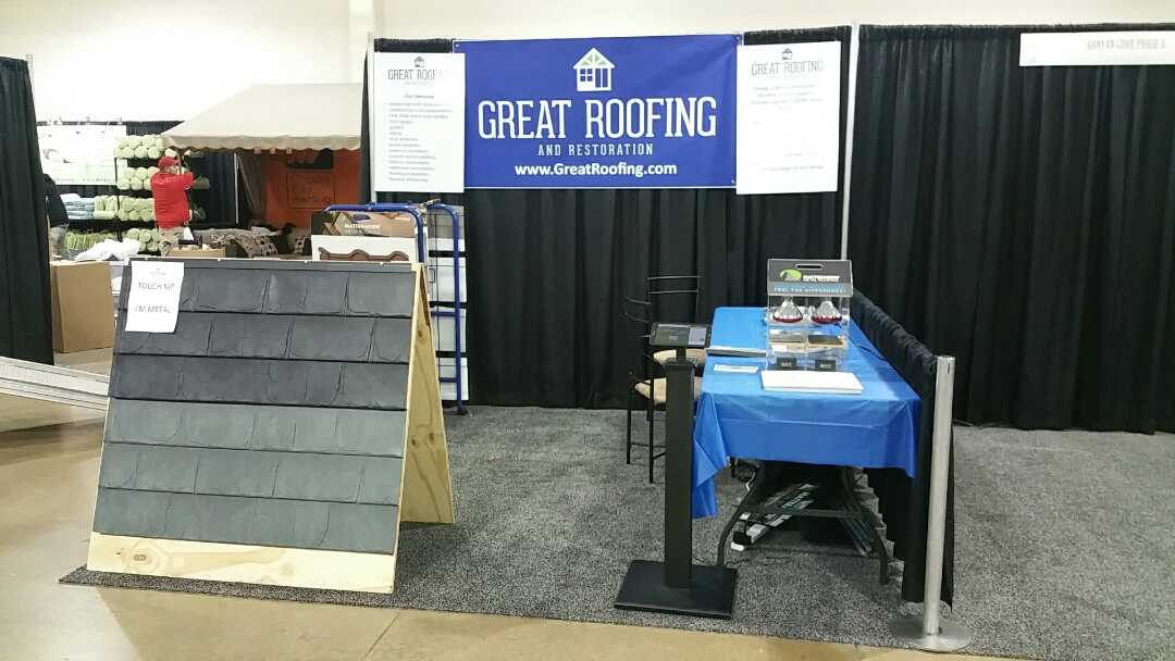 Columbus, OH - All set up for the Columbus Home and Garden show where we'll be showcasing Matterhorn Metal Roofing Systems!
