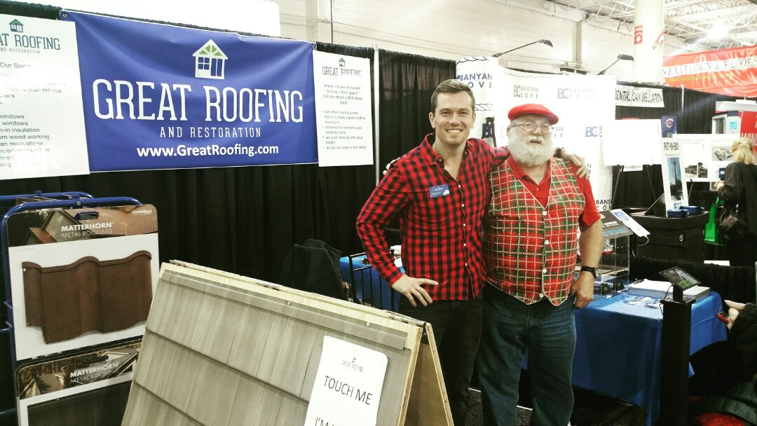 Columbus, OH - We're promoting Santa Claus approved roofs at the Columbus Home and Garden Show!