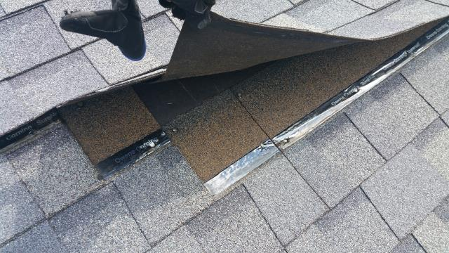 Westerville, OH - Wind damage inspection in Westerville due to leaking in multiple areas. Damaged shingles were located on three sides of the home and will require major repairs. Emergency tarping will be done to prevent further damage.