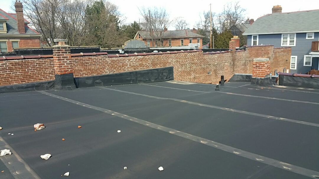 Columbus, OH - Multiple commercial flat roof replacement, going from EPDM to TPO.