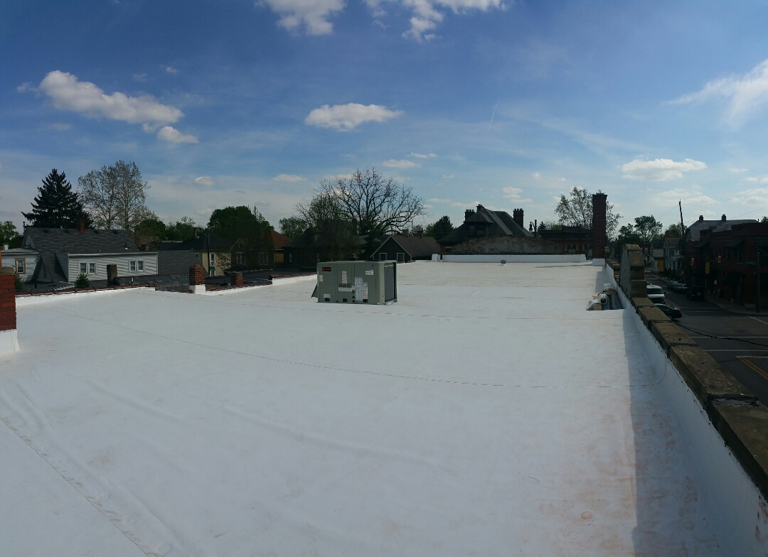 Columbus, OH - GAF EverGuard TPO commercial roof fully finished.