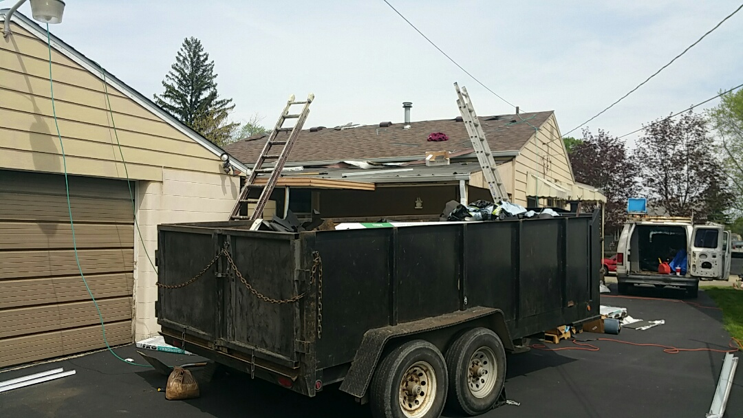 Columbus, OH - New IKO lifetime roofing system almost fully installed.