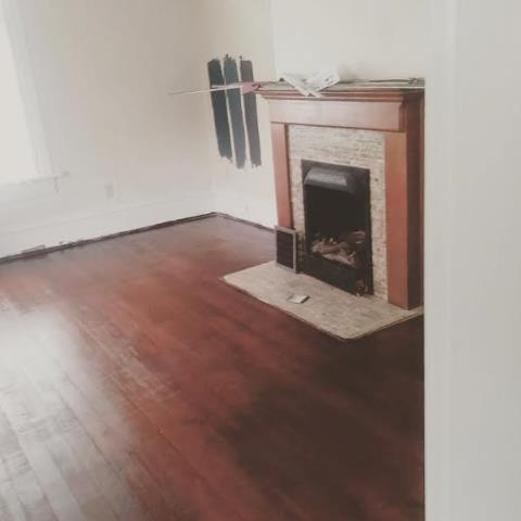 Brice, OH - Resurfacing of the old hardwood floors in this 1890s home as part of an FHA 203k renovation.