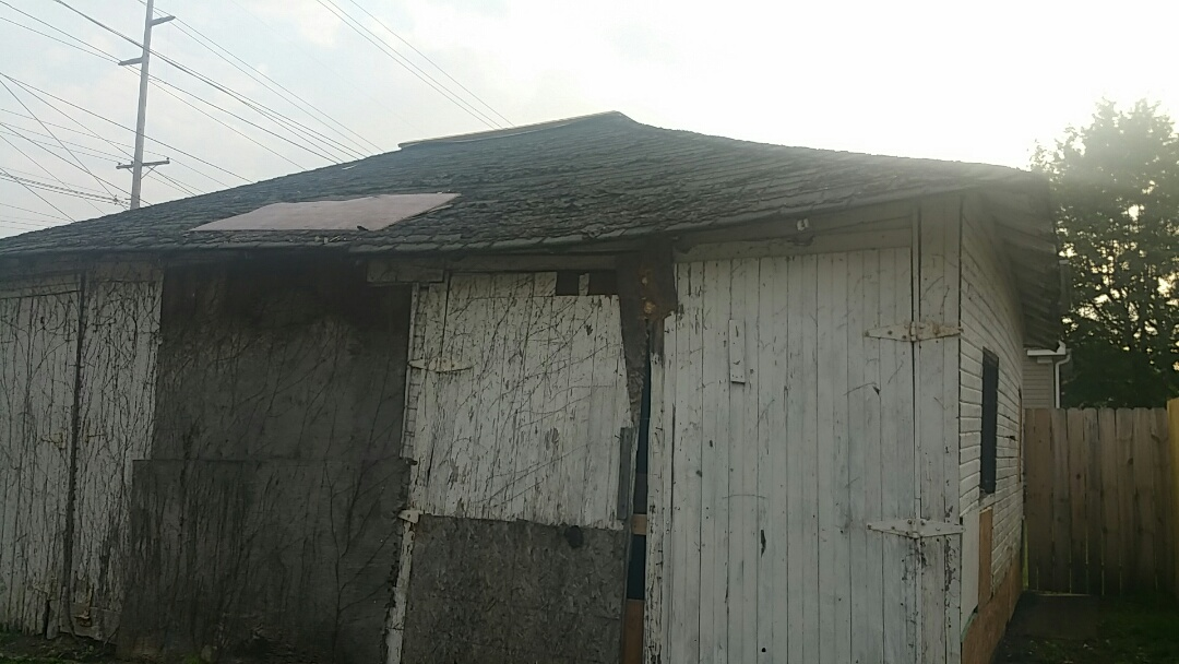 Columbus, OH - Garage roof replacement due to age and deterioration.