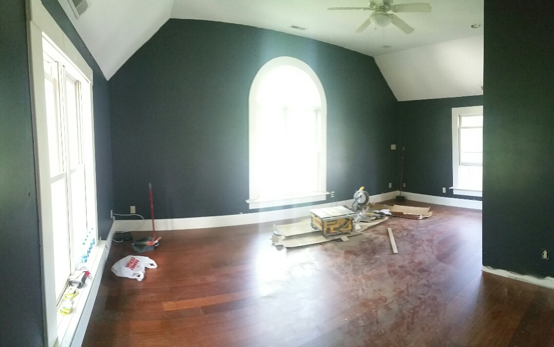 Reynoldsburg, OH - New hardwood flooring going down in this FHA 203k renovation.
